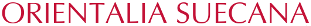 Orientalia Suecana Logo